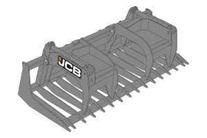 JCB Brush Grapple Agriculture Attachment Dubai